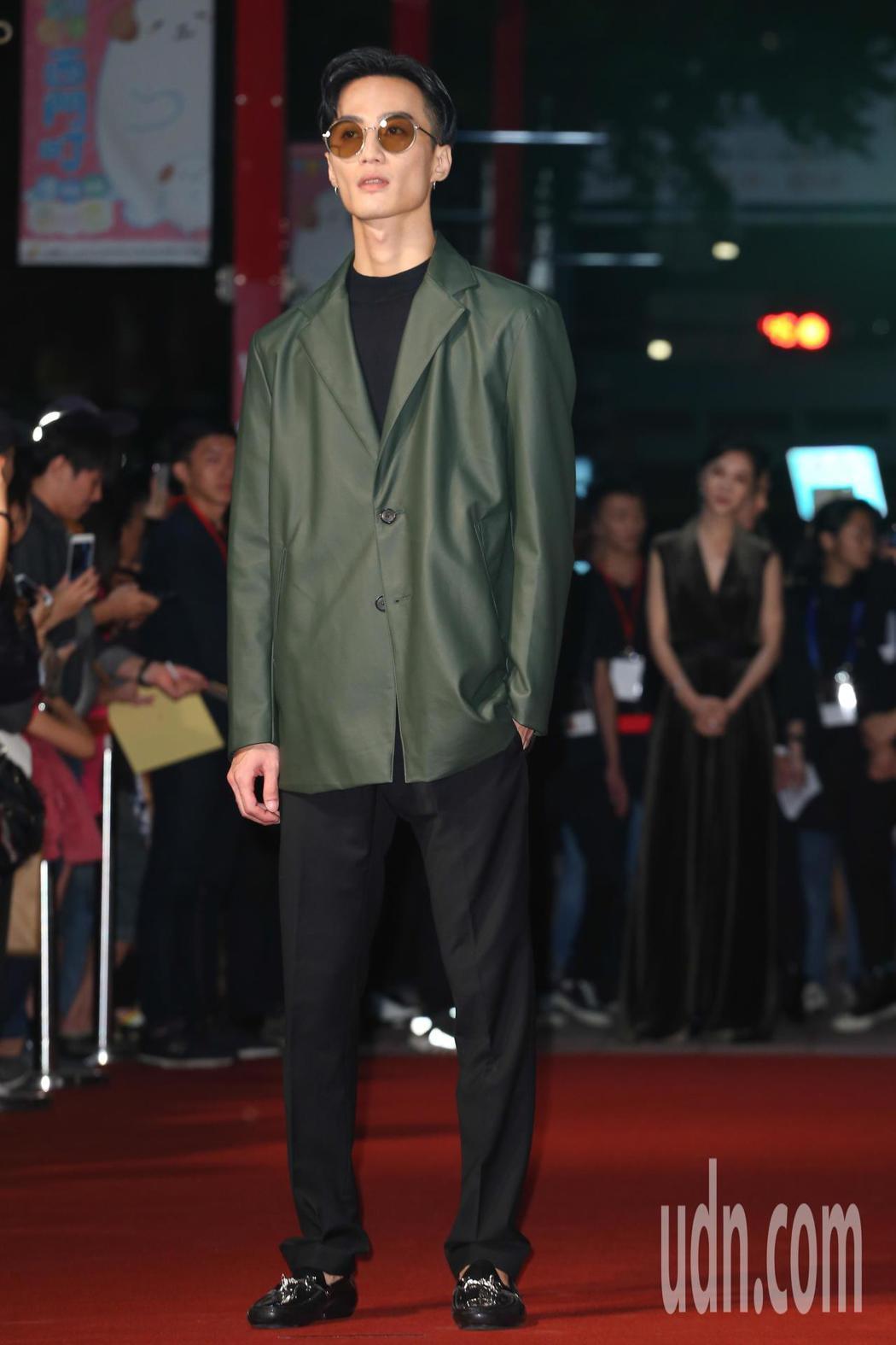 《誰先愛上他的》音樂李英宏今天出席金馬影展紅毯之夜。記者葉信菉/攝影