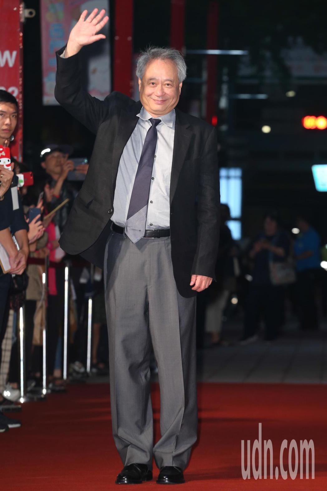 金馬獎主席李安今天出席金馬影展紅毯之夜。記者葉信菉/攝影