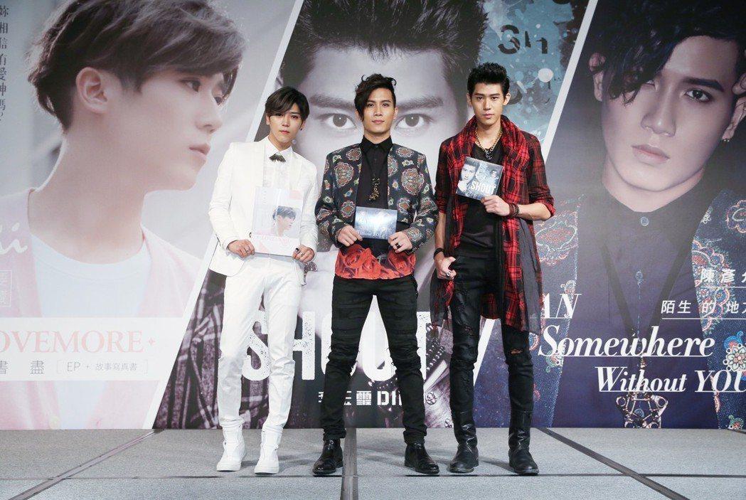 李玉璽(左)、畢書盡、陳彥允照片屢被盜用。圖/聯合報系資料照