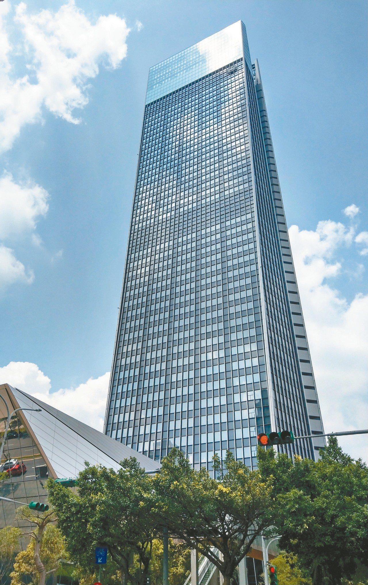 台北南山廣場出現滿租且租金創新高,讓建商對商辦市場信心大增。 (本報系資料庫)