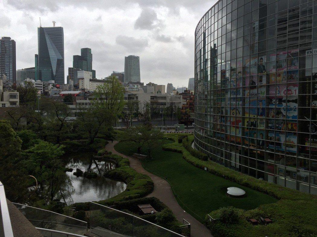 東京六本木之丘周邊環境設計,融入綠建築概念。報系資料照/記者李青霖攝影