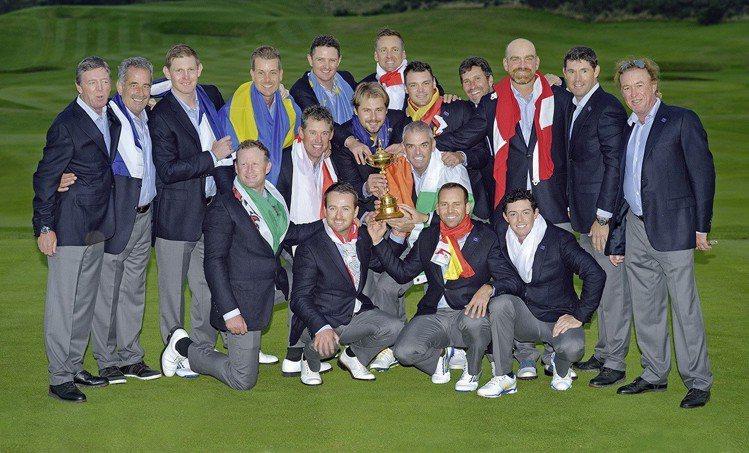 2014年萊德盃歐洲隊隊長保羅.麥金利帶領隊伍拿下冠軍。 圖/勞力士 提供