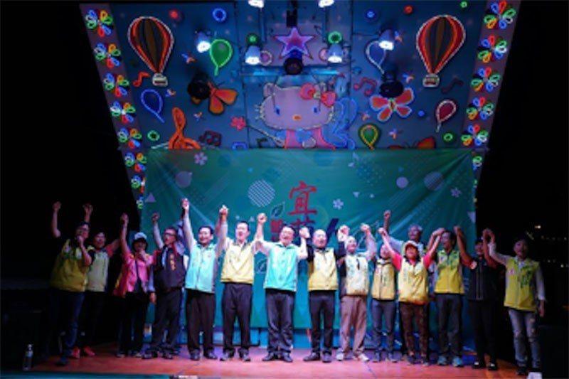 陳文新藉著大洲競選總部成立,舉辦「咱是宜蘭人」音樂會。