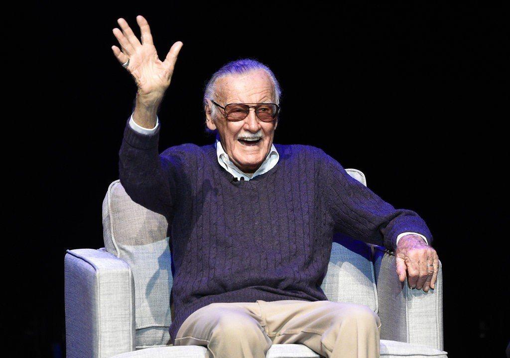 打造Marvel漫威宇宙的主要作者、漫畫界的傳奇大老史丹李。 美聯社檔案照