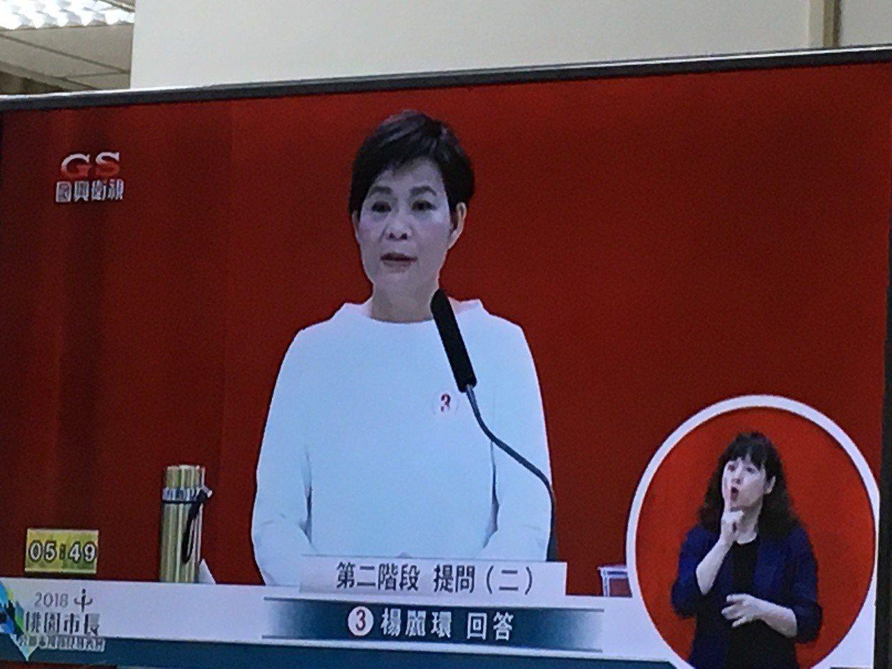 候選人楊麗環要發展國際商業大城。記者張裕珍/翻攝