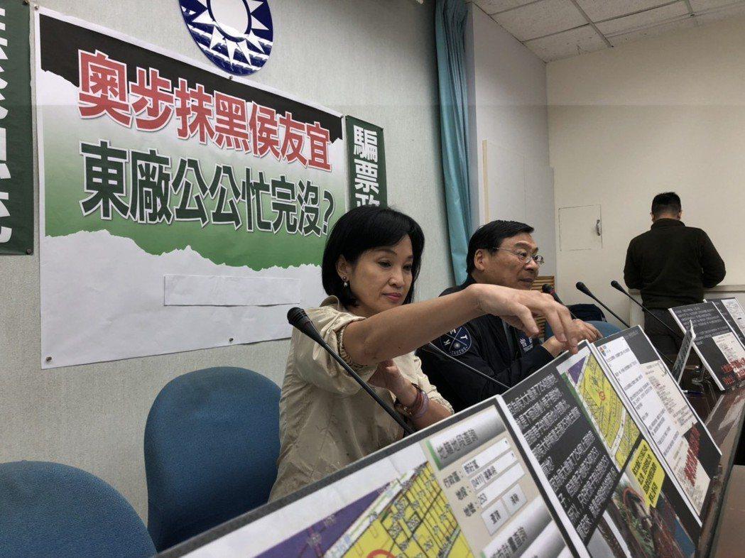 柯志恩(左起)、曾銘宗舉行記者會。記者張文馨/攝影