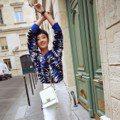 白色是最優雅的顏色 桂綸鎂巴黎街頭秀新包
