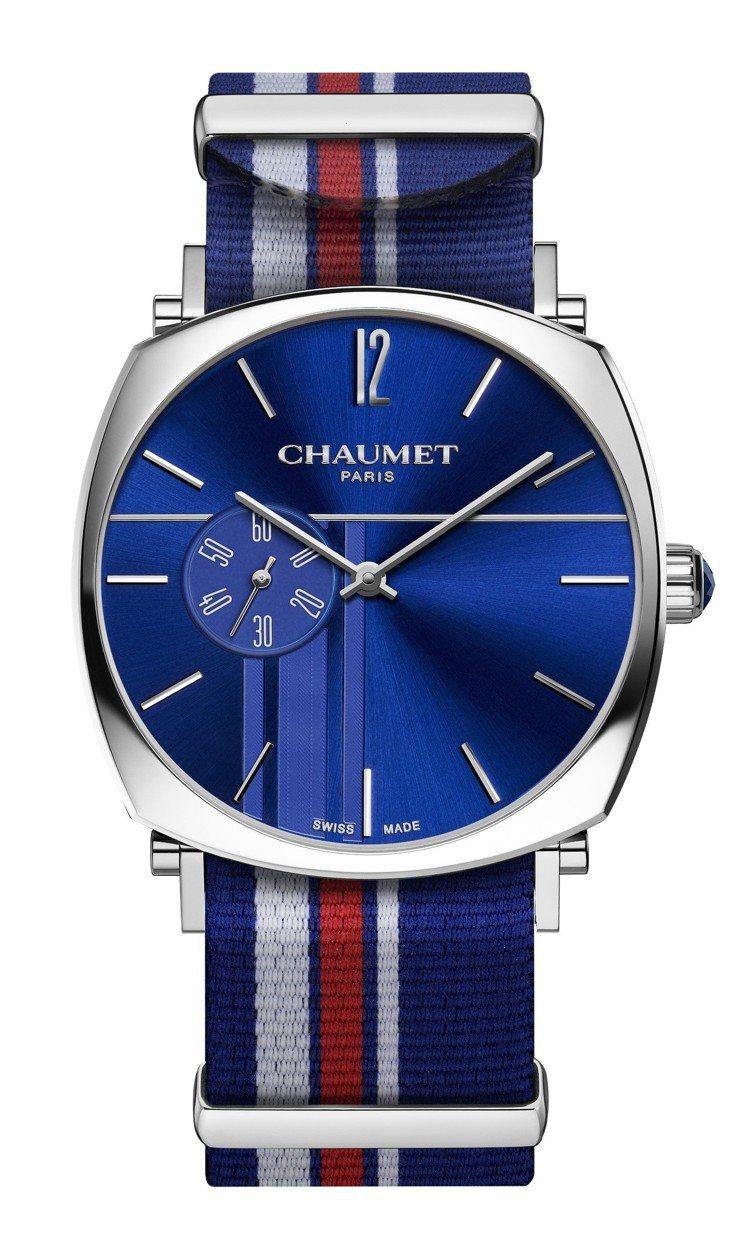 Chaumet大型款 Dandy腕表,不鏽鋼表殼,採用手上鍊機芯,具42小時動力...