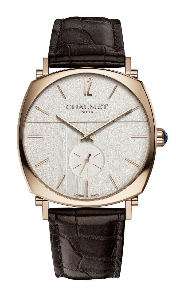 Chaumet大型款 Dandy腕表,18K玫瑰金表殼,搭載手上鍊機芯,具42小...