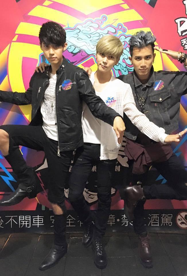 李玉璽(左)、畢書盡、陳彥允照片屢被盜用。圖/摘自臉書