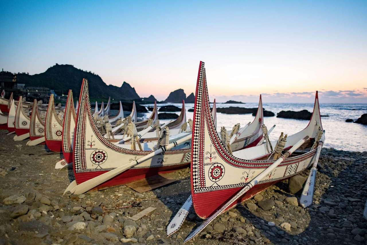蘭嶼拼板舟。 圖/觀光局提供