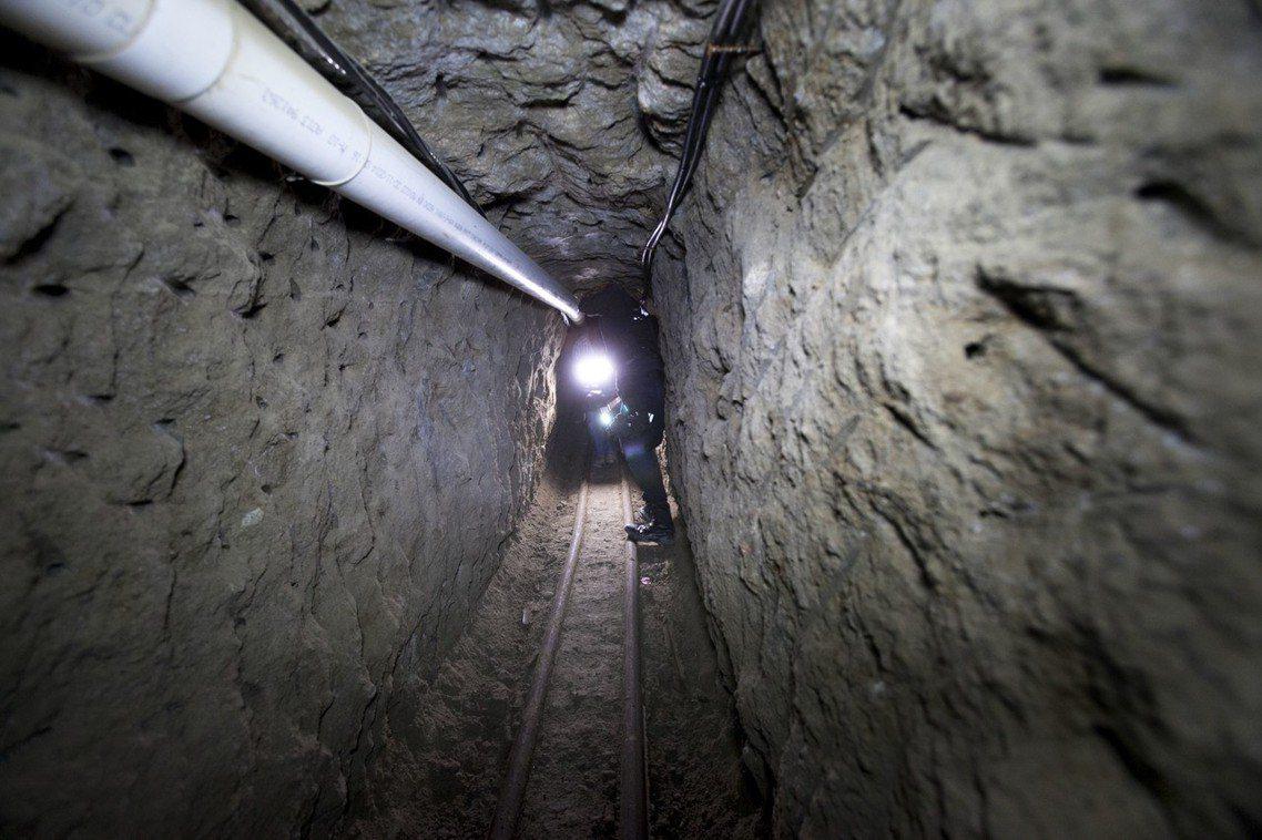 2015年古茲曼的越獄隧道。 圖/美聯社