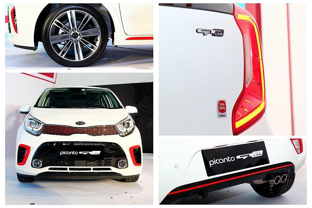 Kia Picanto GT-Line擁有多項專屬套件,如LED日行燈投射燈組,...