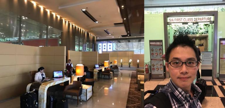 來到了新加坡樟宜機場第三航廈,有給予新加坡航空頭等艙乘客專屬的櫃檯和快速通關 圖...