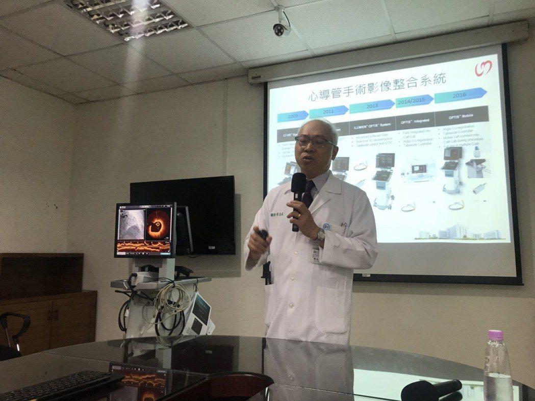 過去50年心導管手術主要是以血管攝影來瞭解冠狀動脈的狀況,奇美醫院引進三台光學同...