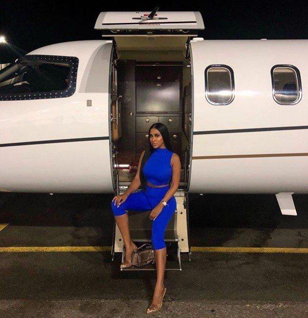 喬蒂.瑪代姆分享搭富豪噴射機旅遊的照片。 圖/取自Instagram