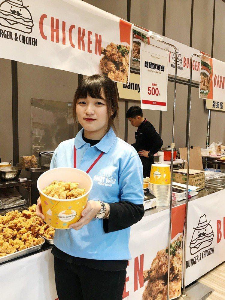 韓國展受歡迎的韓式炸雞。記者江佩君/攝影