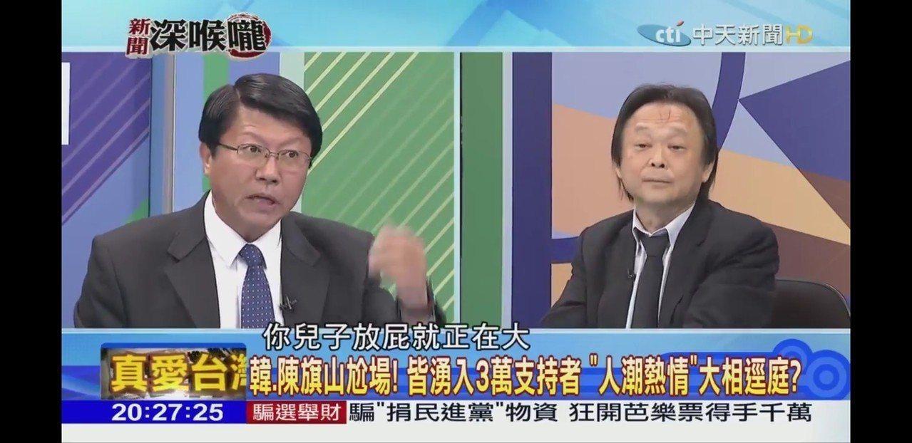 謝龍介與王世堅在電視節目上護摃,唇槍舌劍相當精彩 圖/取自網路