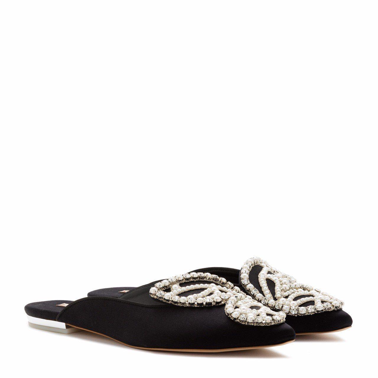 Sophie Webster奢華穆勒鞋。圖/初衣食午提供