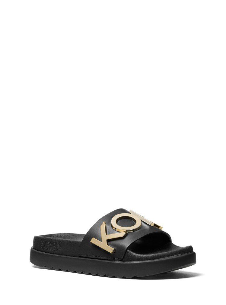 MMK MKGO系列黑色休閒拖鞋,售價4,300元。圖/MICHAEL KORS...