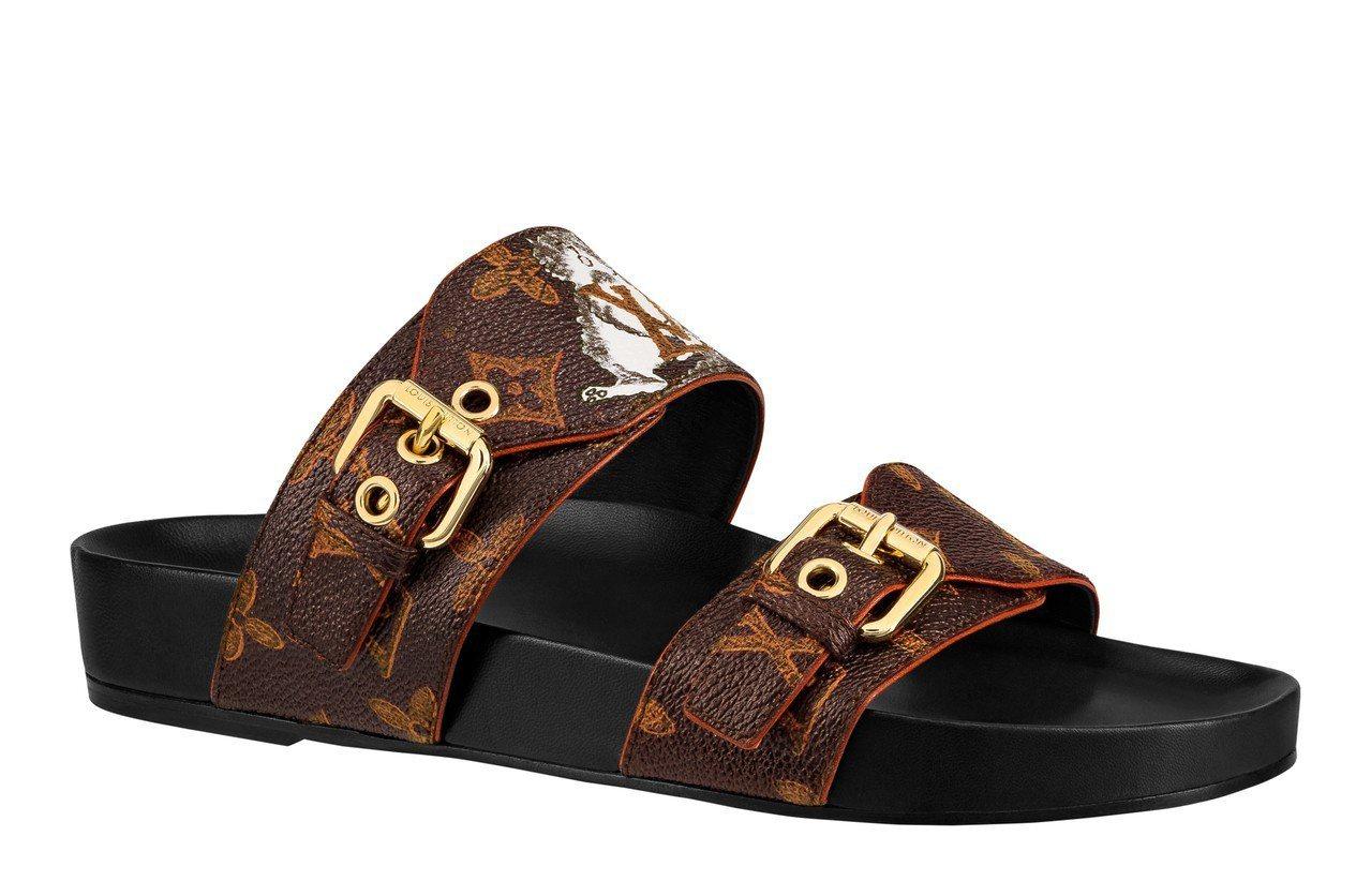 LOUIS VUITTON X Grace Coddington涼鞋,售價30,...