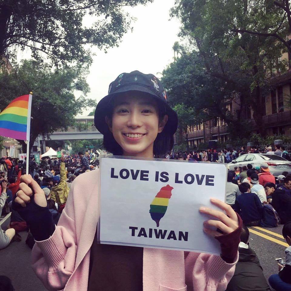 溫貞菱多次參與同志大遊行。圖/摘自臉書