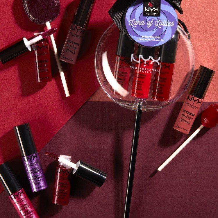 NYX Professional Makeup棒棒糖唇組的可愛設計很適合耶誕節交...