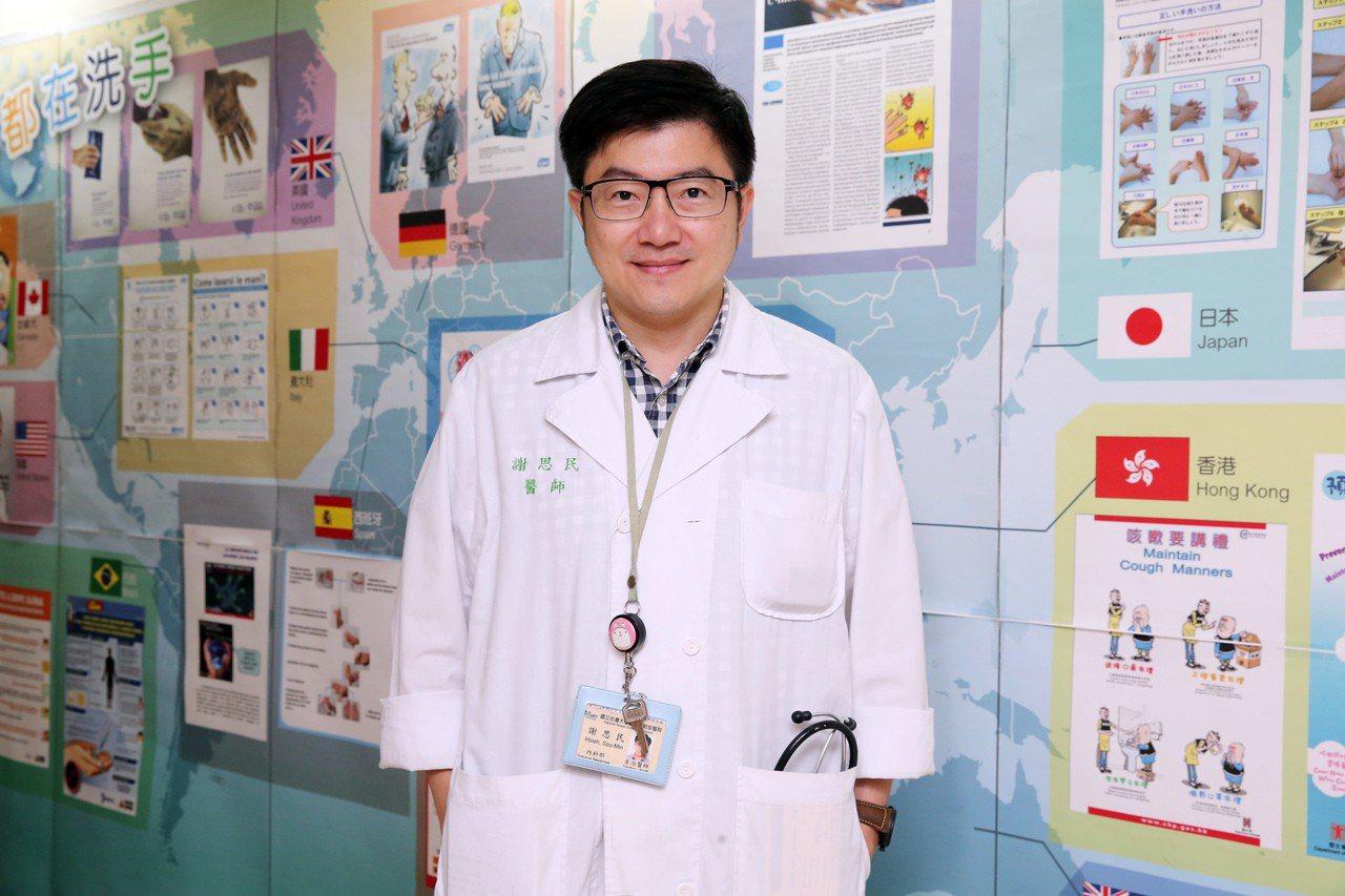 台大醫院感染科主治醫師、感染症醫學會秘書長謝思民表示,大至醫學中心加護病房治療敗...