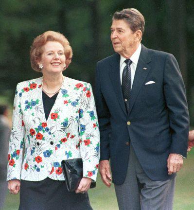 已故英國首相柴契爾(左)每天合計只睡5小時,已故美國總統雷根(右)則據稱沒有午睡...