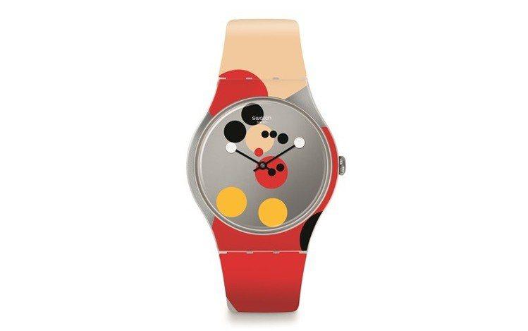 SWATCH Damien Hirst迪士尼米奇90周年藝術聯名「米奇放大鏡」腕...