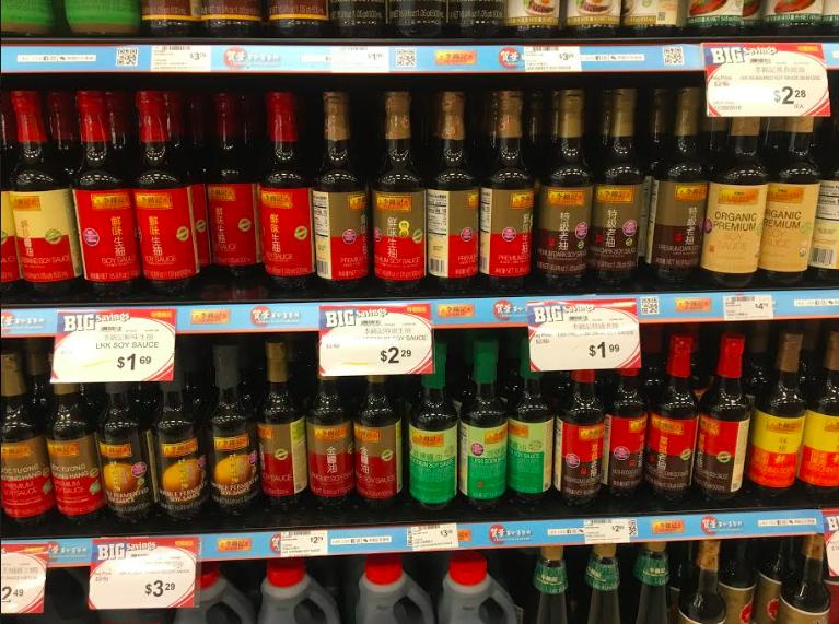 超市中國產品價格較為穩定。記者張越/攝影