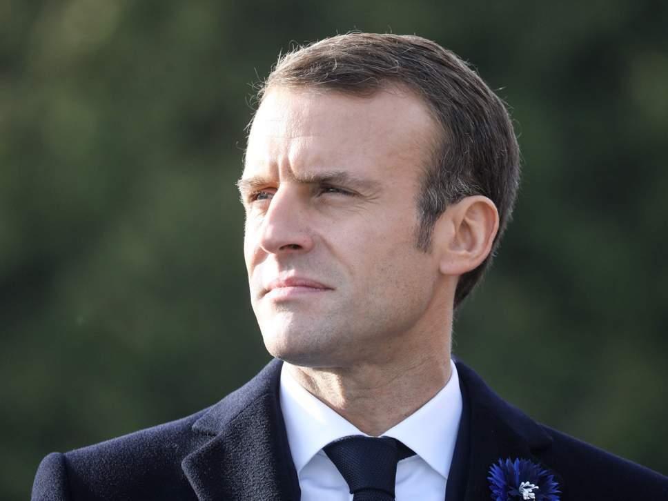 法國總統馬克宏。法新社