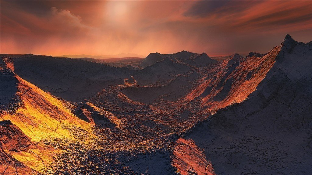 天文學家發現一顆「超級地球」巴納德星B,距離太陽系僅約6光年。圖為歐洲南方天文臺...