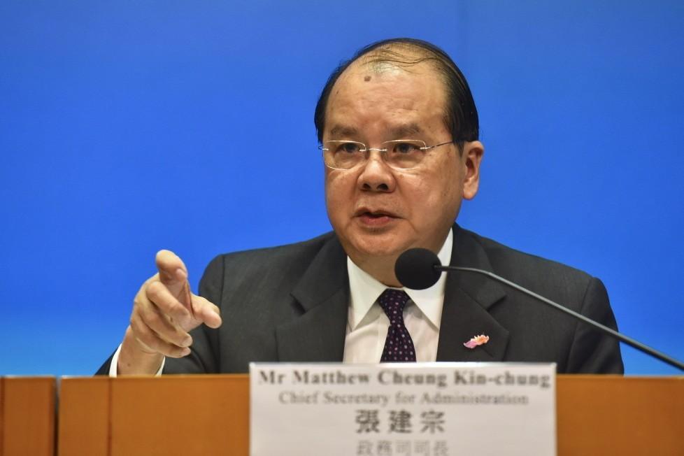 圖為香港政務司長張建宗。 香港中通社資料照片