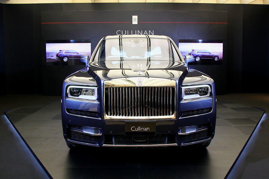 英國頂級奢華車廠勞斯萊斯,旗下首款休旅車正式抵台亮相。 記者張振群/攝影