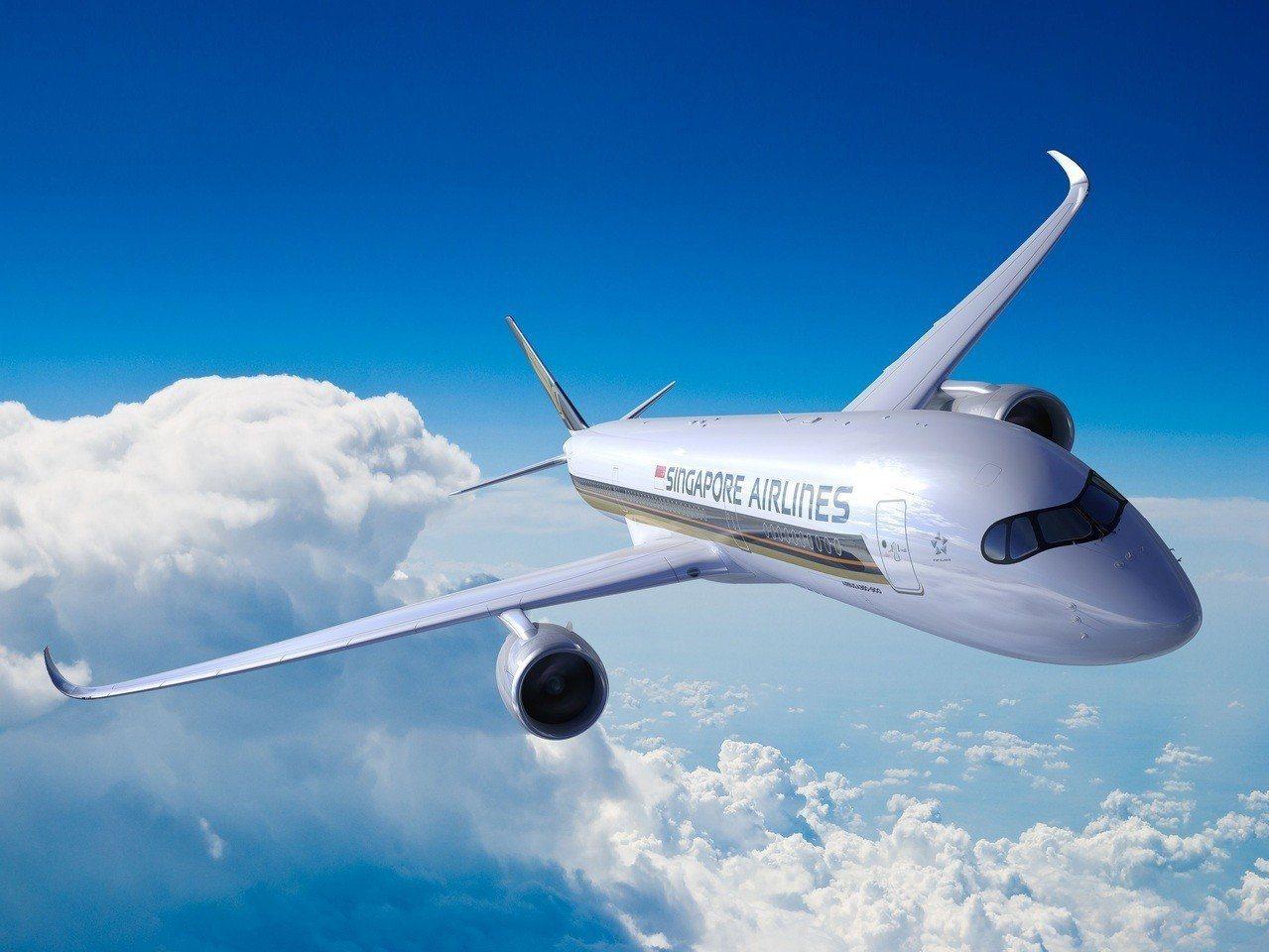 新加坡航空飛機。聯合報系資料照/新加坡航空提供