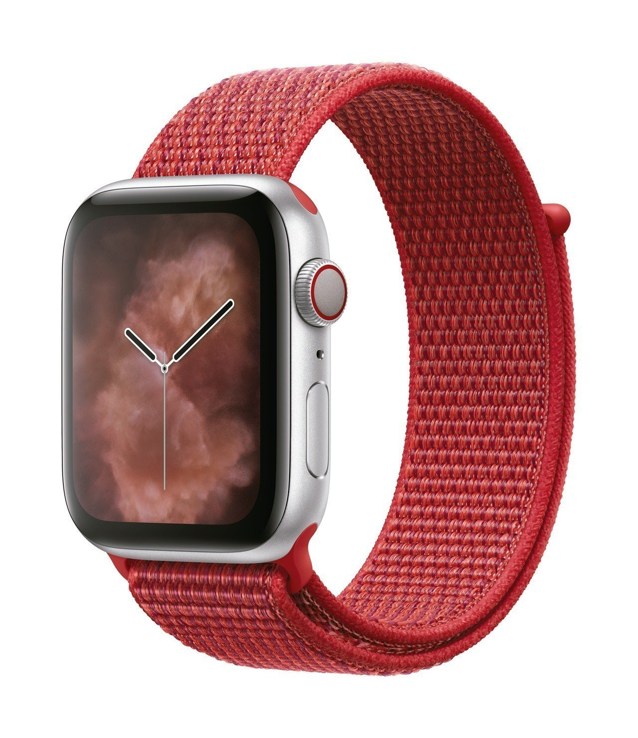 Apple推出全新的Apple Watch(PRODUCT) RED運動型表環。...