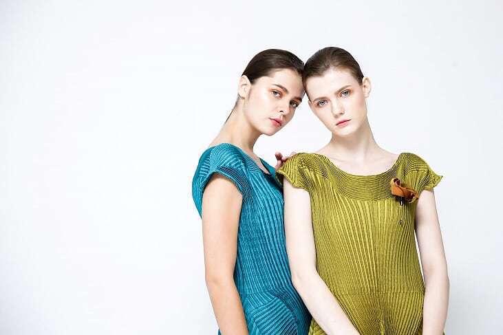 三宅一生發表假日系列的服裝穿搭。圖/ISSEY MIYAKE提供