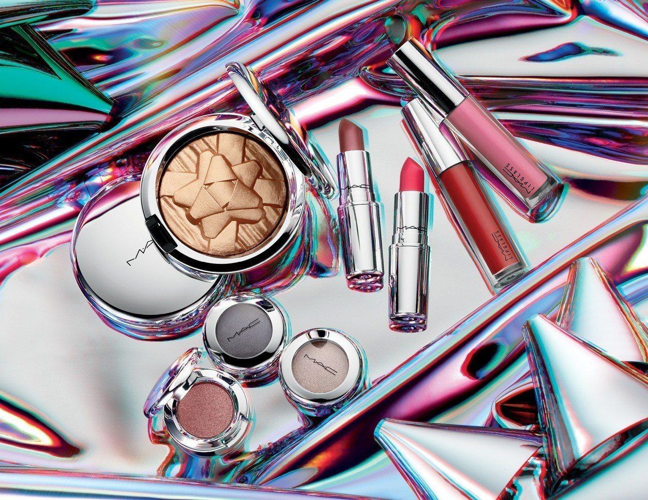 M·A·C耶誕彩妝閃閃派對系列,充滿閃亮元素。圖/M·A·C提供