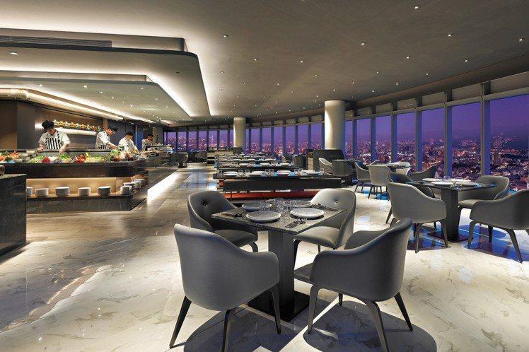 50樓Cafe自助餐廳推出餐券優惠,大約可享有7折左右折扣。圖/Mega50提供