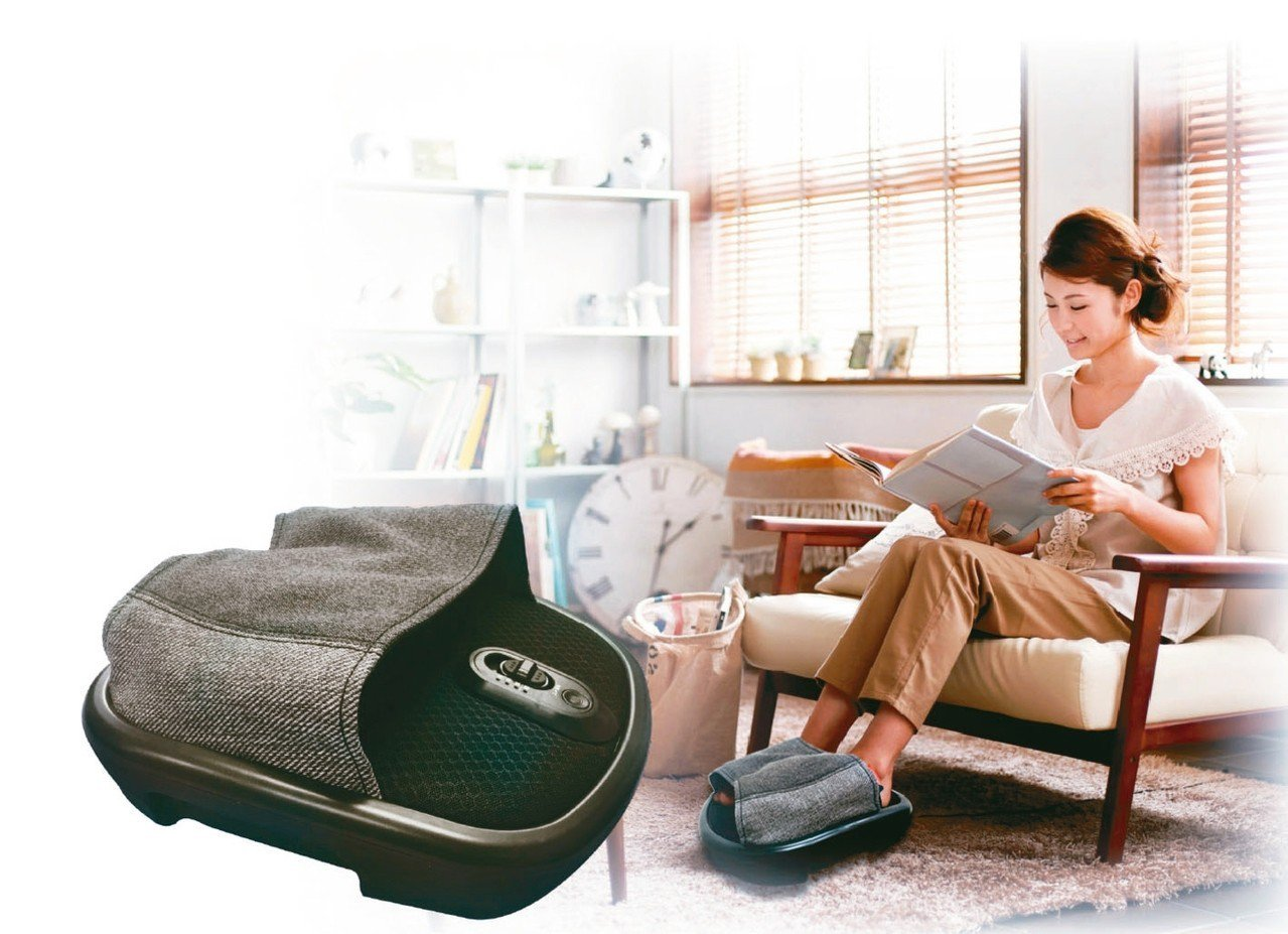 日本知名健康銀髮品牌ATEX電動腳底按摩器。 圖/樂齡公司提供