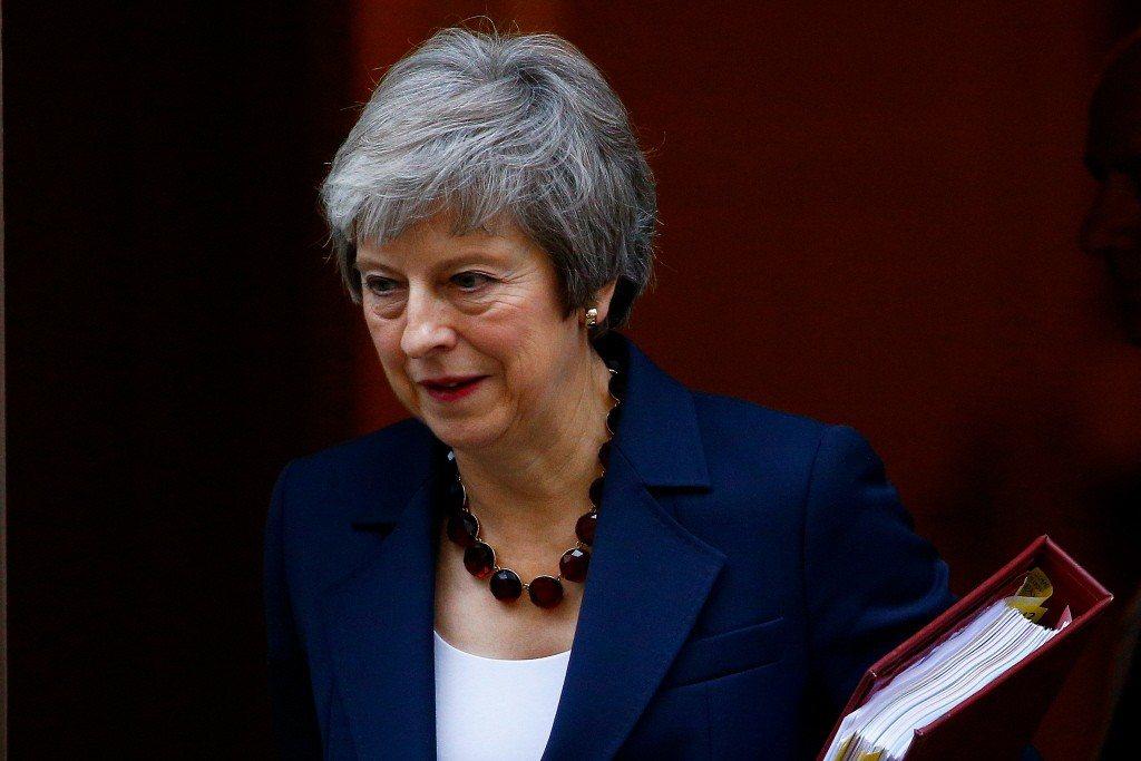 英國首相梅伊。路透