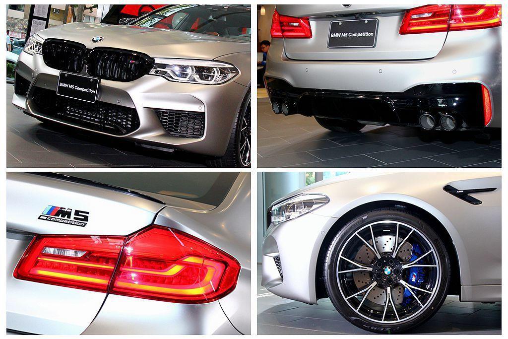BMW M5 Competition相比一般版更有競技味,外觀具備黑色高光澤外觀...