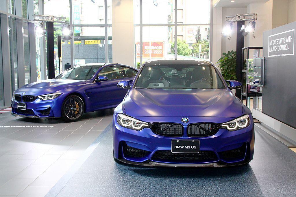 全球限量1,200部的BMW M3 CS以及3,000部的BMW M4 CS,台...