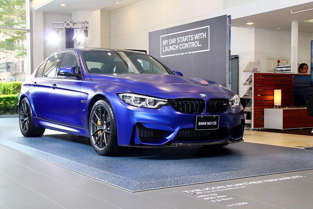 BMW M3 CS台灣擁有4輛配額,不過早就已經銷售一空,現場提供媒體拍攝的實車...