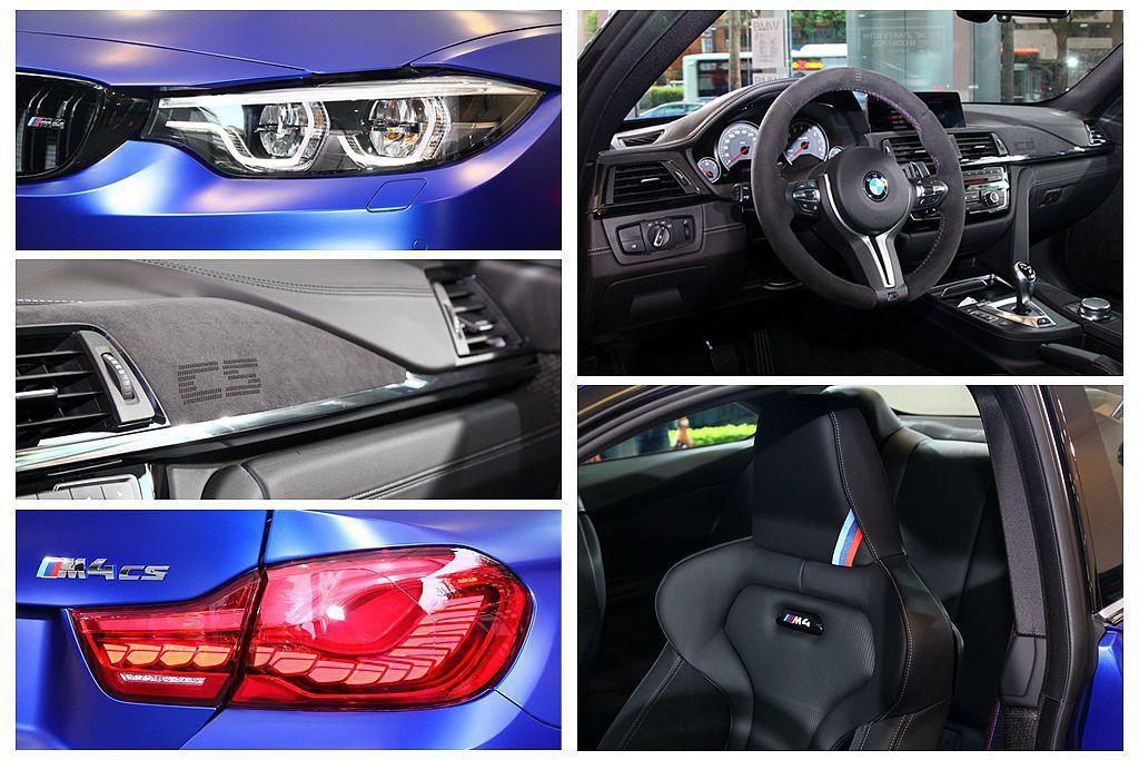 BMW M3 CS、M4 CS標準配備LED進階主動式轉向頭燈,當中M4 CS還...