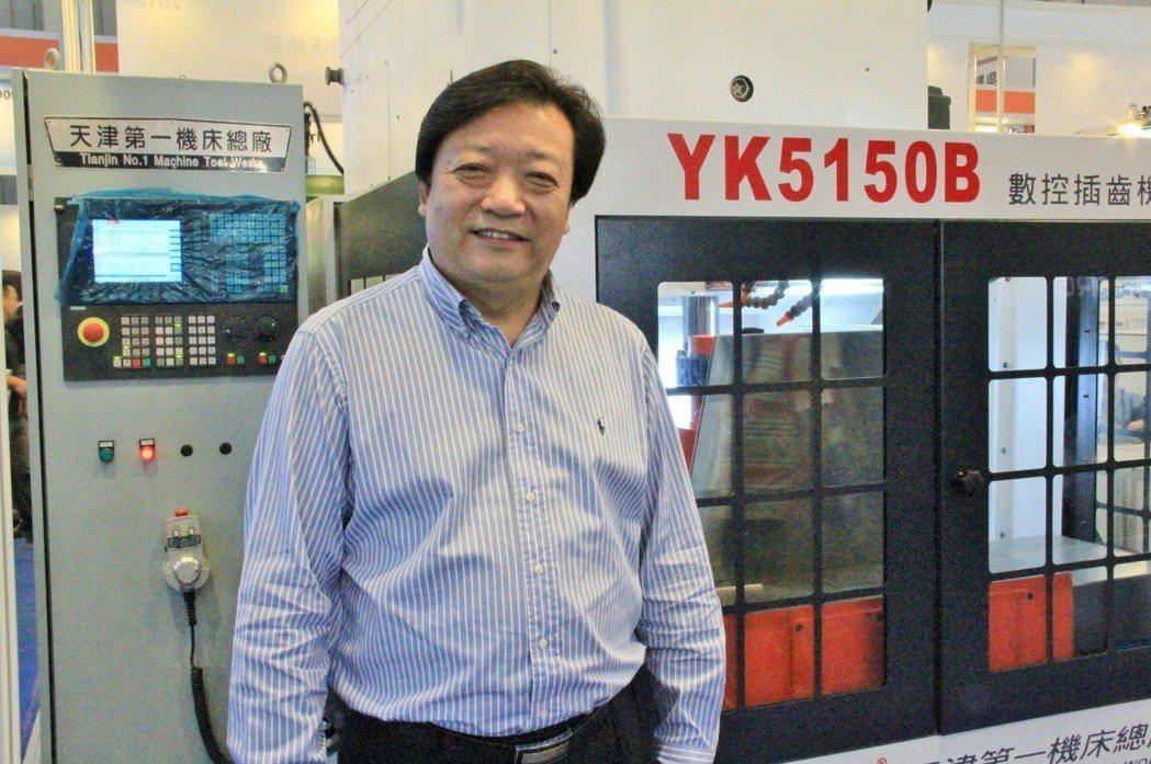 天津第一機床總廠總經理周維剛,推薦CNC數控插齒機,主用於加工直齒圓柱齒輪,尤適...