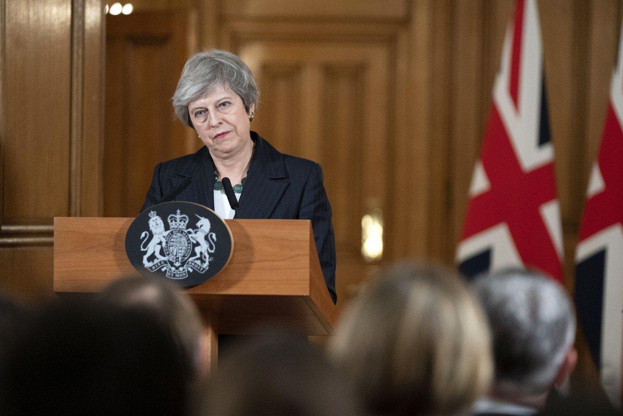英國保守黨的聯合執政夥伴「北愛民主統一黨」將投票反對首相梅伊(如圖)的脫歐協議草...