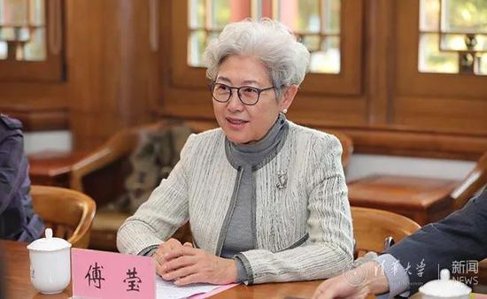 中共外交部前副部長傅瑩受聘為北京清華大學國際關係研究院名譽院長。(長安街知事公眾...