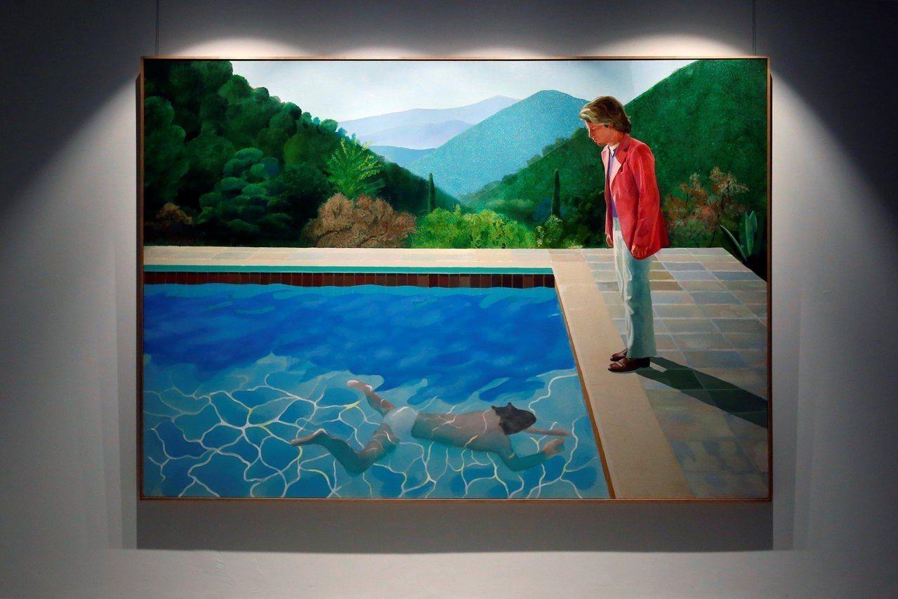 霍克尼這幅畫創在世藝術家作品拍賣價格紀錄。路透